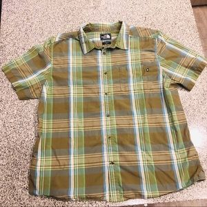 The North face Button up Shirt Top XXL Plaid